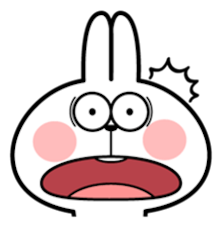 Cool Rabbit Facial Emoji messages sticker-9