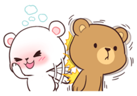 Milk and Chocolate Lovely Bear messages sticker-0