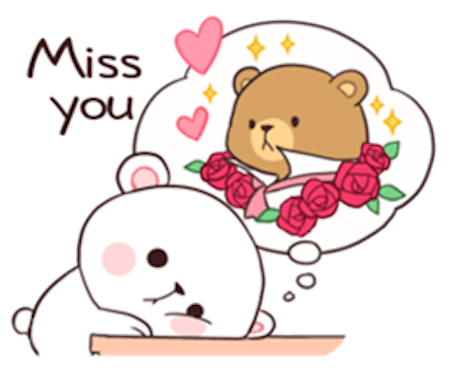 Milk and Chocolate Lovely Bear messages sticker-9