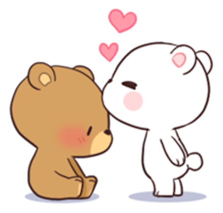 Milk and Chocolate Lovely Bear messages sticker-10