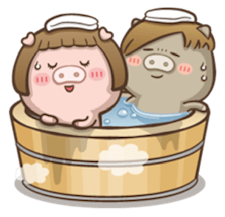Little Pig Couple messages sticker-1