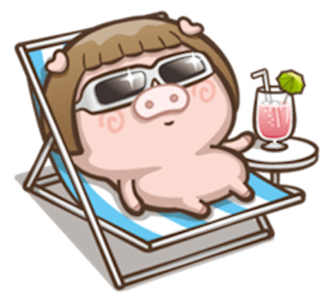 Little Pig Couple messages sticker-9