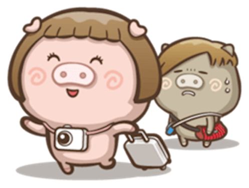 Little Pig Couple messages sticker-5