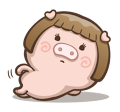Little Pig Couple messages sticker-2