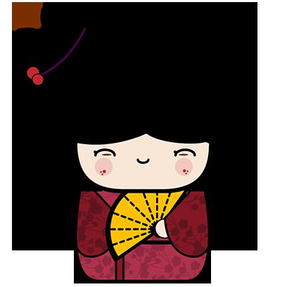 Kokeshi Animated Japanese Dolls messages sticker-9