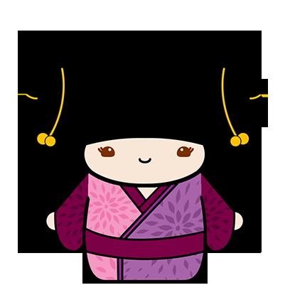 Kokeshi Animated Japanese Dolls messages sticker-4
