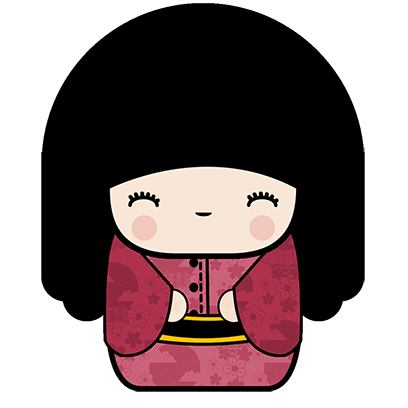 Kokeshi Animated Japanese Dolls messages sticker-0