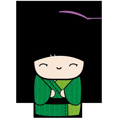 Kokeshi Animated Japanese Dolls messages sticker-10