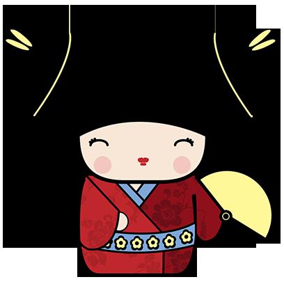 Kokeshi Animated Japanese Dolls messages sticker-6