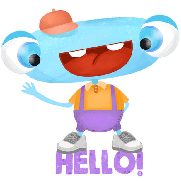 Happy Funny Monster - cute stickers messages sticker-0