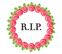 Wreath Rip - Rest in Peace Stickers messages sticker-0