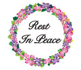 Wreath Rip - Rest in Peace Stickers messages sticker-4