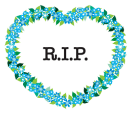 Wreath Rip - Rest in Peace Stickers messages sticker-1