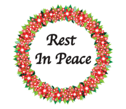 Wreath Rip - Rest in Peace Stickers messages sticker-10