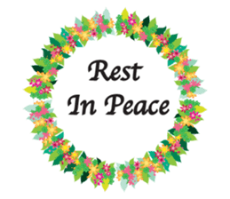 Wreath Rip - Rest in Peace Stickers messages sticker-6