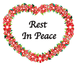 Wreath Rip - Rest in Peace Stickers messages sticker-2
