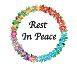 Wreath Rip - Rest in Peace Stickers messages sticker-7