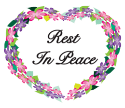 Wreath Rip - Rest in Peace Stickers messages sticker-8