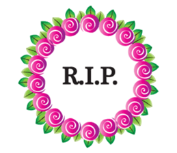 Wreath Rip - Rest in Peace Stickers messages sticker-11