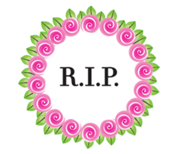 Wreath Rip - Rest in Peace Stickers messages sticker-9