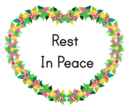 Wreath Rip - Rest in Peace Stickers messages sticker-5