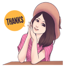 Cool Girl : Love Stickers messages sticker-10