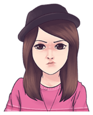 Cool Girl : Love Stickers messages sticker-7