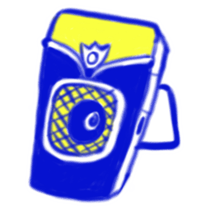 Vintage Style - Blue & Yellow Doodle Stickers messages sticker-5