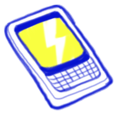 Vintage Style - Blue & Yellow Doodle Stickers messages sticker-2