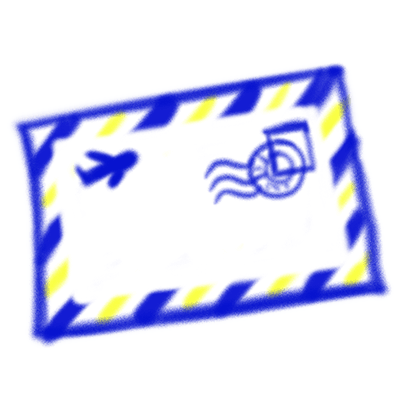 Vintage Style - Blue & Yellow Doodle Stickers messages sticker-3