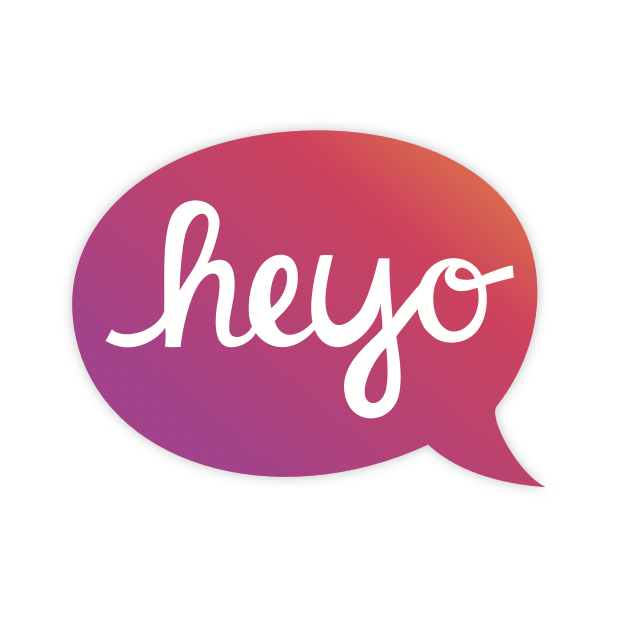 Heyo - Beautiful Handwritten Color Speech Bubble messages sticker-2