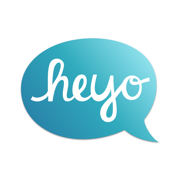 Heyo - Beautiful Handwritten Color Speech Bubble messages sticker-0