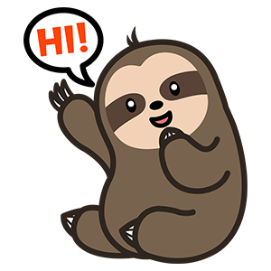 Cute Sloth Stickers messages sticker-5