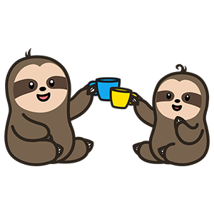 Cute Sloth Stickers messages sticker-9