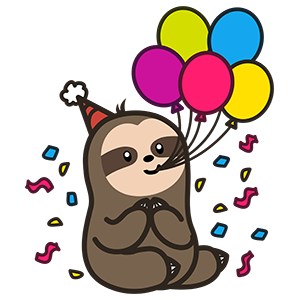 Cute Sloth Stickers messages sticker-8