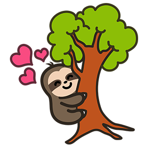 Cute Sloth Stickers messages sticker-3