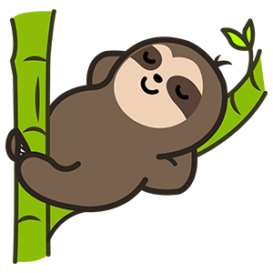 Cute Sloth Stickers messages sticker-1