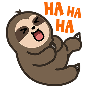 Cute Sloth Stickers messages sticker-0