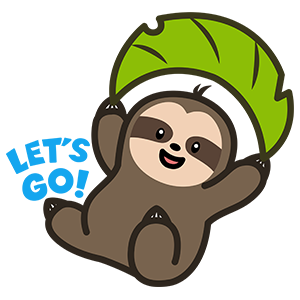 Cute Sloth Stickers messages sticker-7