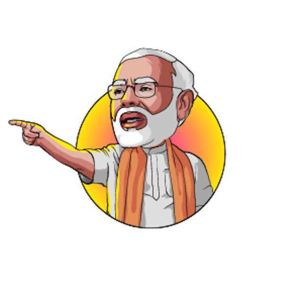 Narendra Modi Stickers messages sticker-7