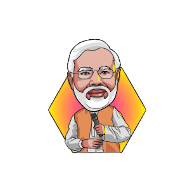 Narendra Modi Stickers messages sticker-6