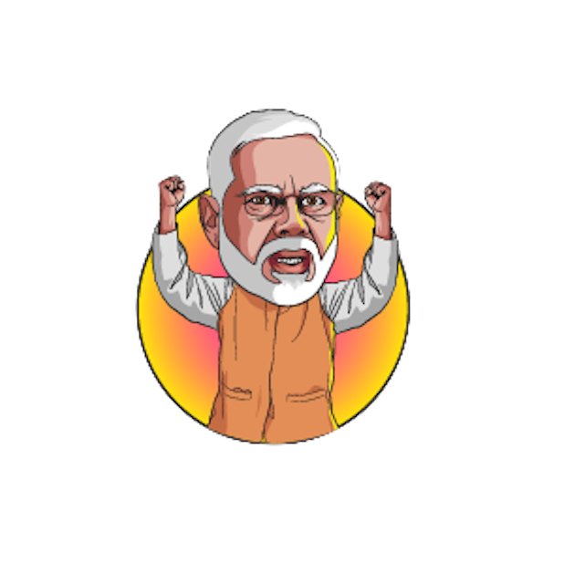 Narendra Modi Stickers messages sticker-0