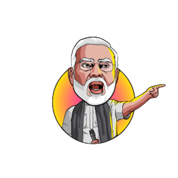 Narendra Modi Stickers messages sticker-1