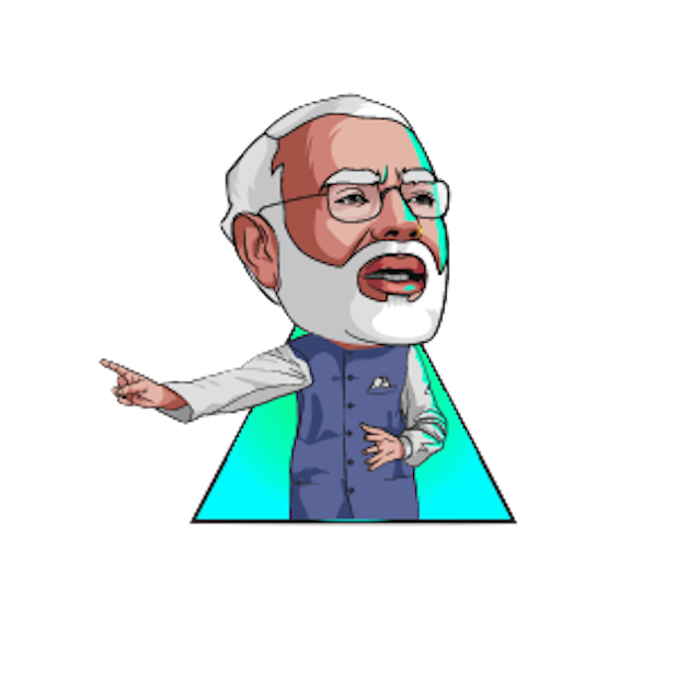 Narendra Modi Stickers messages sticker-4