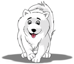 Husky Dog - Cute snow dog for iMessage messages sticker-1