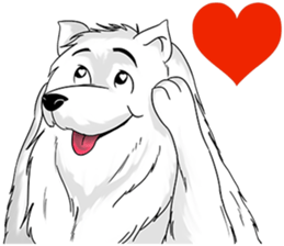 Husky Dog - Cute snow dog for iMessage messages sticker-10