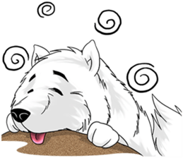 Husky Dog - Cute snow dog for iMessage messages sticker-5