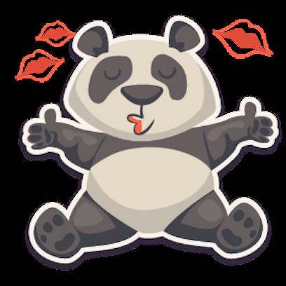 Panda - Stickers. messages sticker-7