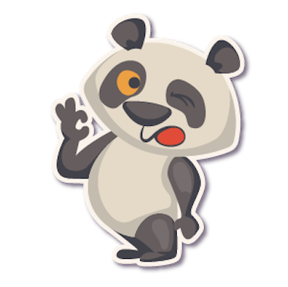 Panda - Stickers. messages sticker-5