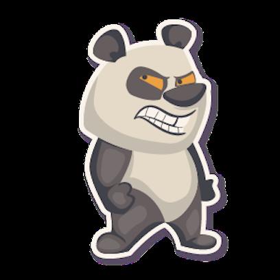 Panda - Stickers. messages sticker-11